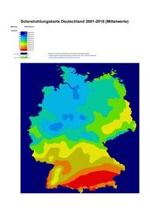 Mittelwerte der solaren Einstrahlung für Deutschland 2001-2010